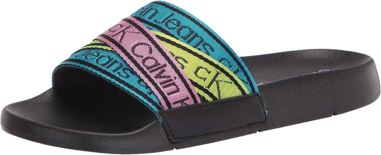 2020秋冬新作 Calvin Klein Women's ストアー Slide Atwyn Sandal