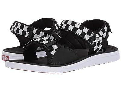 Vans UltraRangetm Tri-Lock ((Checkerboard) Black/True White) Sandals