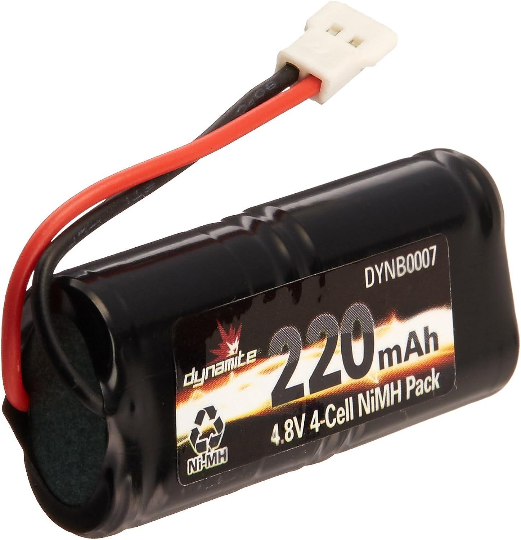 Dynamite 4.8V 220mAh 2 3AAANiMH 4C Flat  Micro SCT Rally Battery