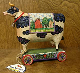 Jim Shore Cow on Cart Bell Cow