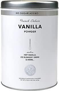 French Deluxe Vanilla Powder, No Sugar Added - 16 oz