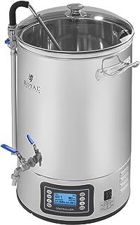 Royal Catering RCBM-40N Olla Cerveza Artesanal Caldera de Fermentacion Macerador de Cerveza (30 L, 2500 W, 9 Programas, Display LCD Táctil)