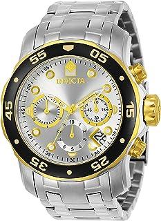 [インヴィクタ]Invicta 腕時計 Pro Diver Scuba Swiss Chronograph Silver Dial Stainless Steel Bracelet Watch 80040 メンズ [並行輸入品]