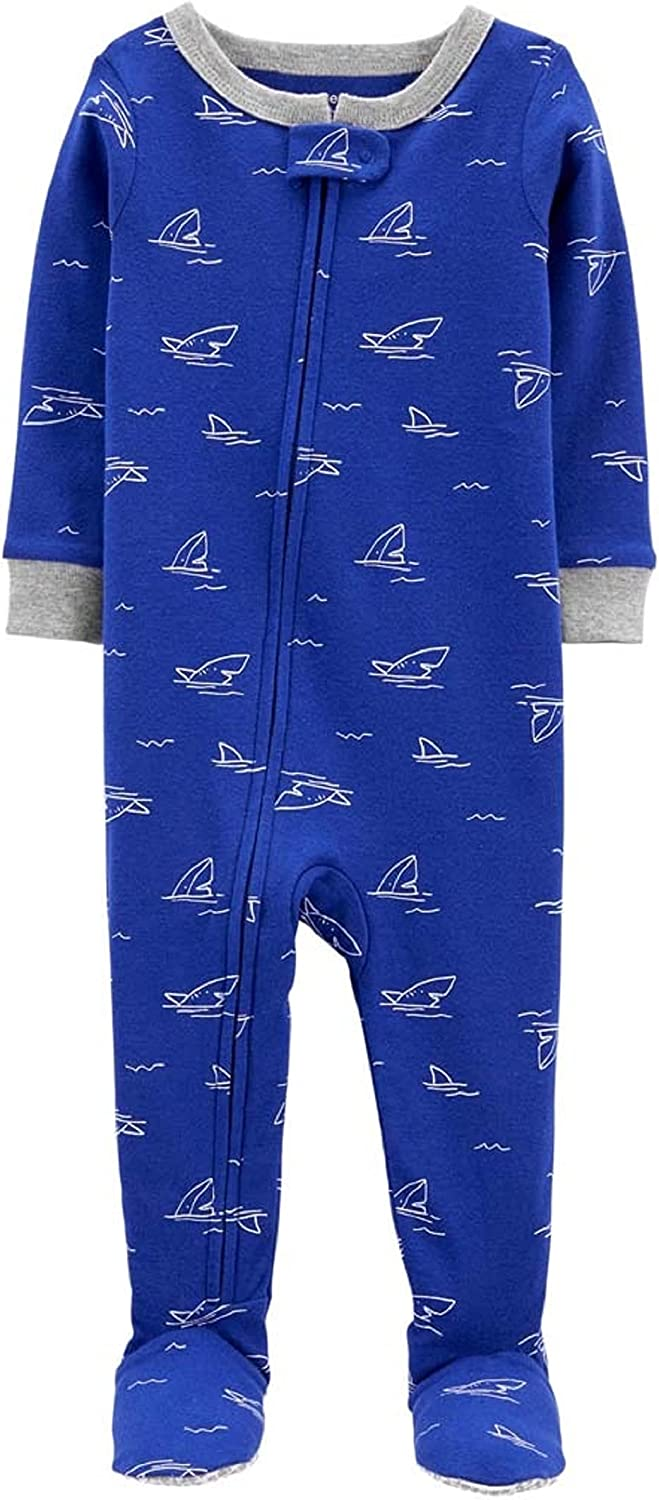Carter's Max 60% OFF Baby Boys' 1 Sleepers Footed Louisville-Jefferson County Mall Piece Cotton