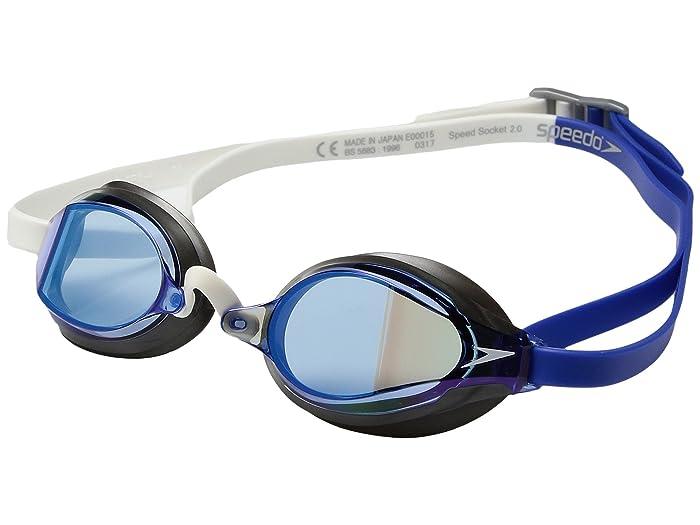 Speedo Speed Socket 2.0 Mirrored (Dazzling Blue) Water Goggles