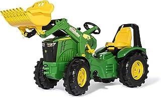 Rolly Toys 651047 - Trettraktor rollyX-Trac Premium John Deere 8400R, für Kinder von 3-10 Jahre, Flüsterbereifung