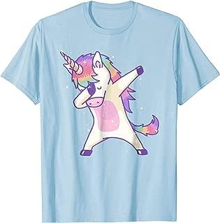 Women's Dabbing Unicorn Shirt Dab Hip Hop Magic Girl Clothes