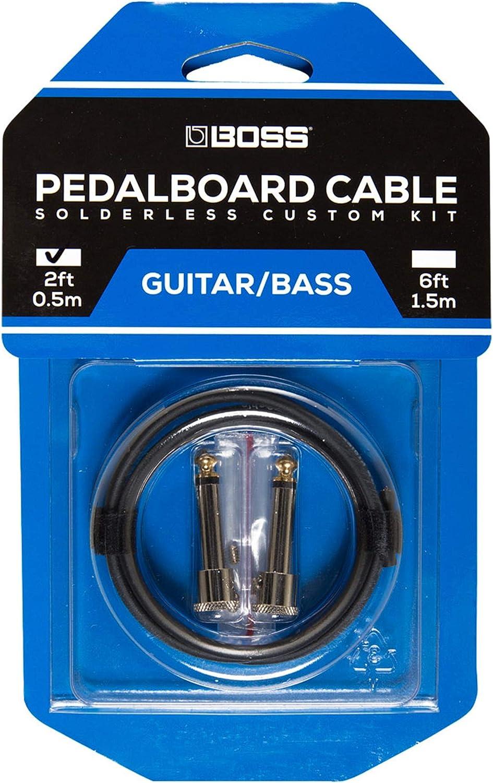 Kit de cables de pedalera sin soldadura BOSS BCK-2 – Cable de 0,5 m + 2 conectores de 1/4