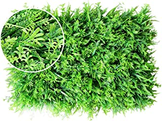 XEWNEG Artificial Boxwood Hedge, For Home Decor, Gardens Ornament, Balcony And Terraces, Indoor Outdoor Wall Decor (23.62x...