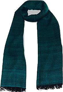 100% Merino Wool ScarfHERRINGBONESoftVery WarmLarge (30X80) Winter Scarf. (Bottle Green & Black)