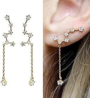 Crystal Constellation Earrings Constellation Ear Climber Earrings Drop Dangle Earrings Little Dipper Constellation Best Friend - ECLD