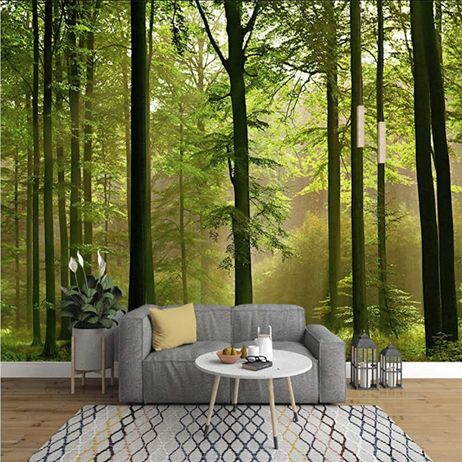 ましいはずゴムWxmca カスタム壁画壁紙現代の3D原生林自然風景壁絵画リビングルームのソファの背景壁紙用壁3 D-250X175Cm