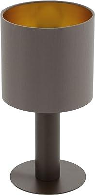 Eglo 97686 Lampe de Table, Acier, 60 W, Marron Foncé