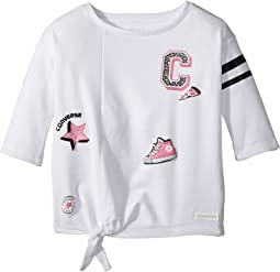 Converse Kids - Tie Front Patches Knit Tee (Toddler/Little Kids)