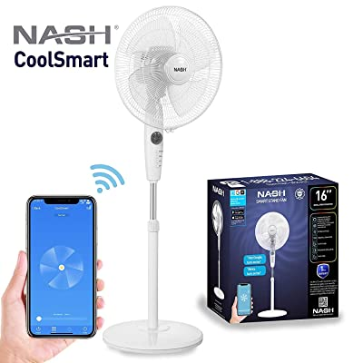 Smart WiFi Oscillating Pedestal Stand Fan