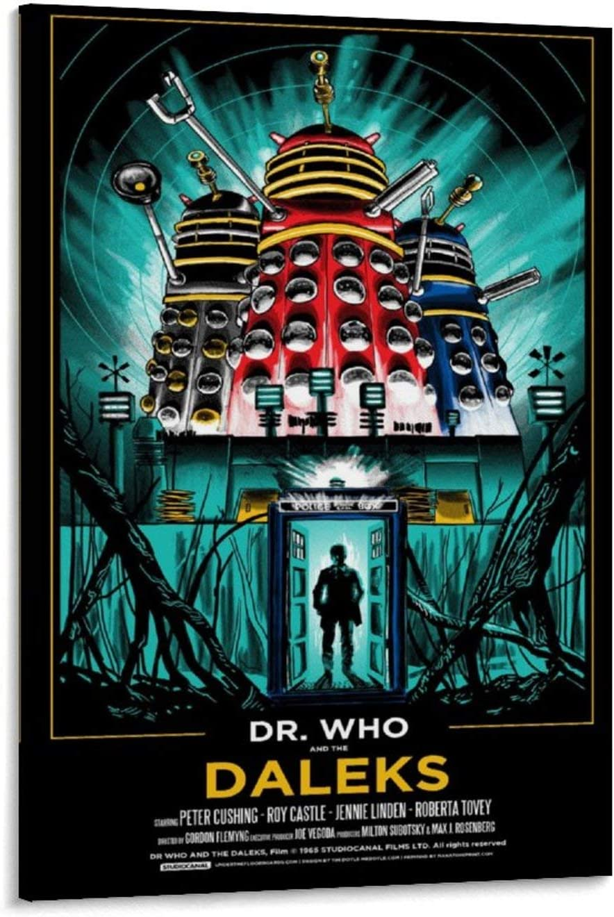YOSON Dr. Who and The Daleks Wall Art Decor Canvas Painting Poster Print Canvas Art Pictures for Room Home Decor 08x12inch(20x30cm)