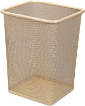Trash can Recycling Bin Rubbish Trash Metal Trash Can Without Cover Square 10 Liters(2.6gallon) Waste Can Paper Bins Trash...