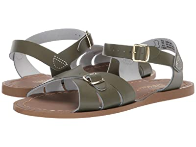 Salt Water Sandal by Hoy Shoes Classic (Big Kid/Adult) (Olive) Girls Shoes
