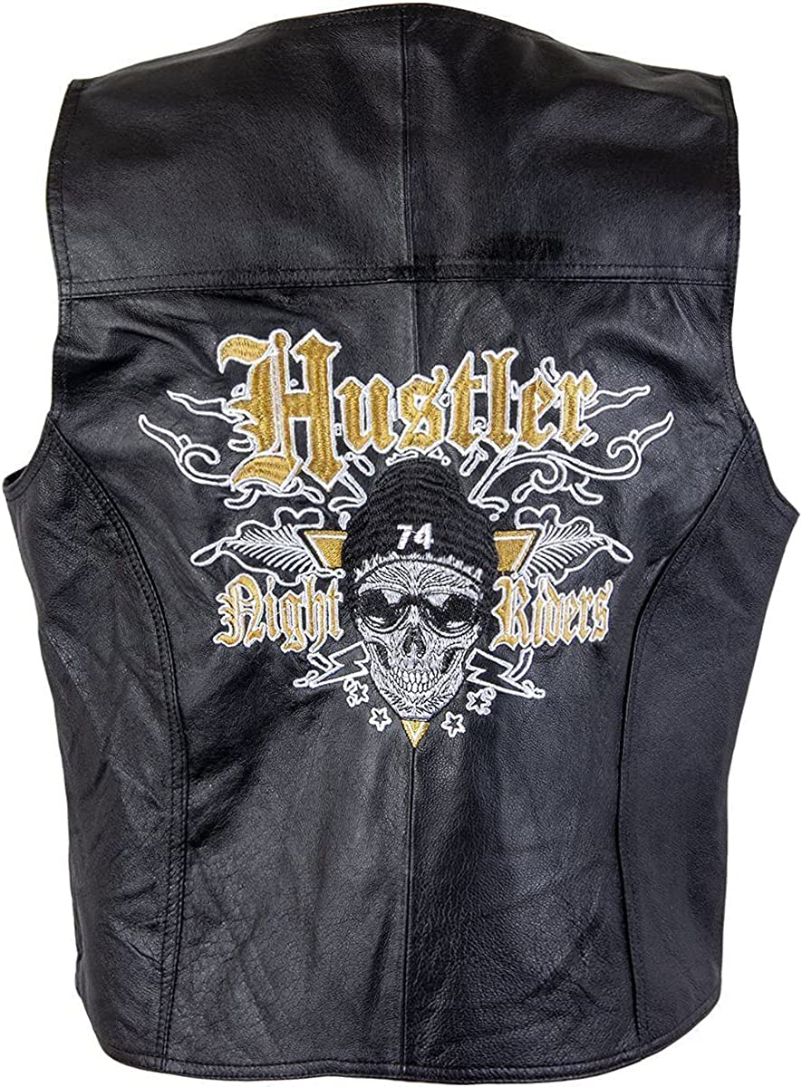 Xelement HSVT 240 Limited price Hustler Classic Detroit Mall Motorcycle For Vest Leather Me