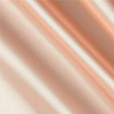 Shannon Fabrics Silky Satin Charmeuse Solid Fabric, New Peach, Fabric by the yard