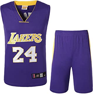 a3e1cd8f18e65 Rying Hommes Adulte Kobe Bryant #24/#8 Los Angeles Lakers Maillot Basketball  Jersey