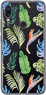 Suhctup Compatible con Xiaomi Mi A2/6X Funda Flor de TPU Transparente Diseño de Flores Patrón Cárcasa Ultra Fina Suave con...