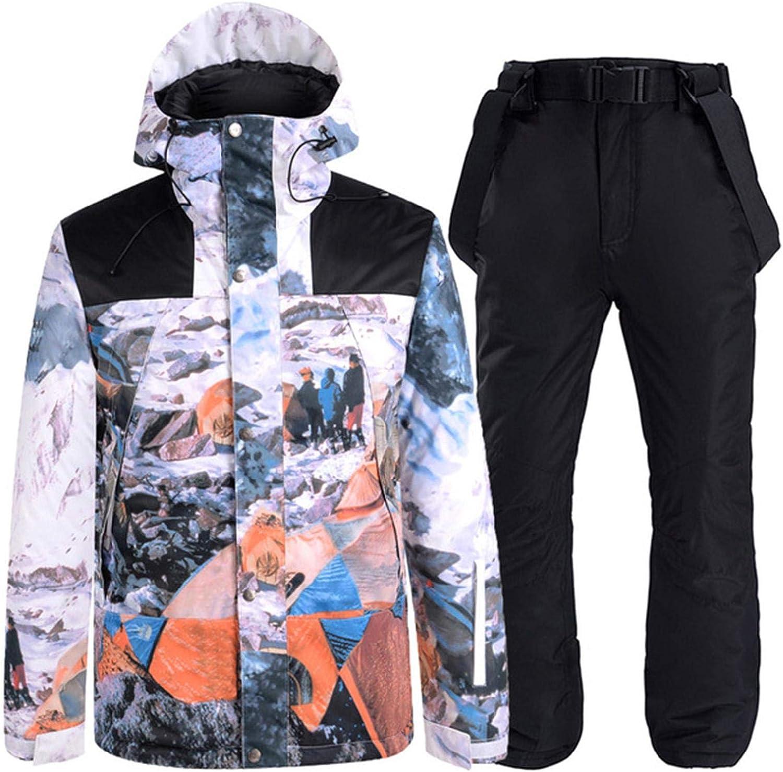 AL完売しました。 Mens Windproof Warm 新着セール Ski Suits Jacket Waterproof Hooded Winter an