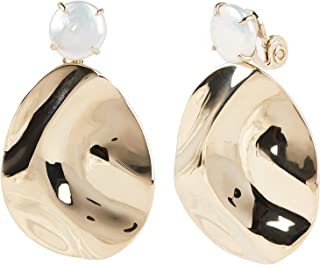 Carolee Women's Wavy Drop Clip Earring