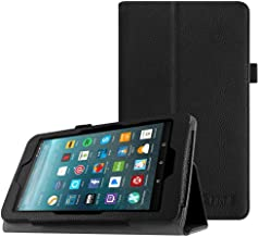 Fintie Folio Case for Amazon Fire 7 Tablet (Previous Generation - 7th, 2017 Release) - Slim Fit PU Leather Standing Protective Cover Auto Wake / Sleep, Compatible with Fire 7 (5th Gen, 2015), Black