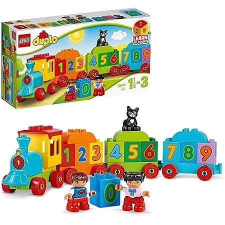 LEGO 10847 Duplo Le Train des Chiffres, Jeu De Construction Éducatif avec Briques Géantes, Jouet Bébé 1 an