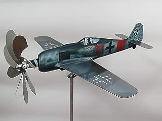 maxflite.de Focke-Wulf FW 190 Airplane Wind Wheel/Spinner; Propeller Turns When Wind; Stainless Steel; gardendecoration