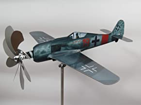 maxflite.de Focke-Wulf FW 190 Airplane Wind Wheel/Spinner; Propeller Turns When Wind; Stainless Steel; gardendecoration
