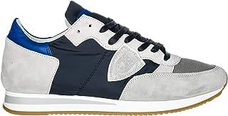 68d6dd285d7c86 Philippe Model Chaussures Baskets Sneakers Homme en Daim Tropez blu