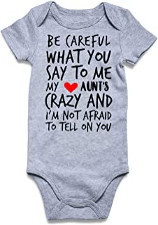 Cutemefy Baby Boys Girls Bodysuit Funny Infant Romper Jumpsuit Short and Long Sleeve Unisex Outfit Clothes 0-18 Months