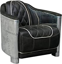 Bentley Leather Club Armchair, Mountain Grey Mountain Black Top Grain Cow