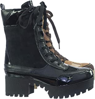 bamboo powerful platform combat boot