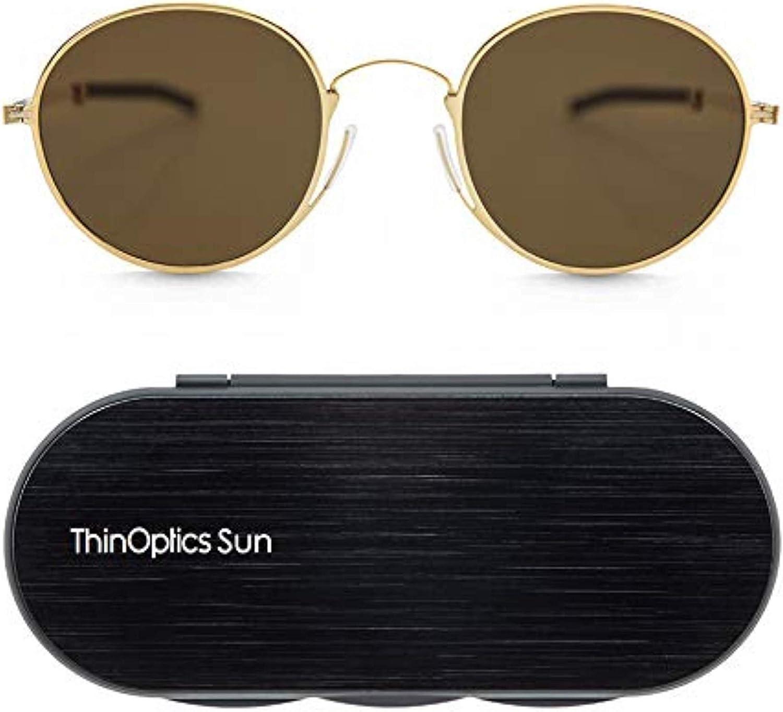 ThinOptics Milano Aluminum Case safety Round + Popular product Sunglasses