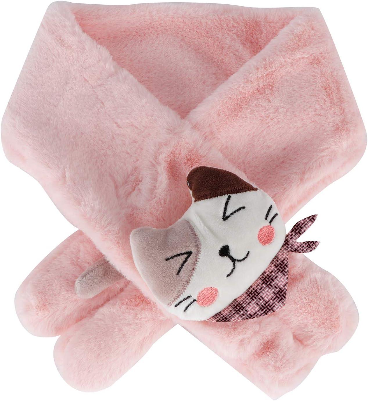 SanZHONGsd Kids Scarf Fluffy Furry Neck Max Direct sale of manufacturer 78% OFF Warmer Cute Rabbit