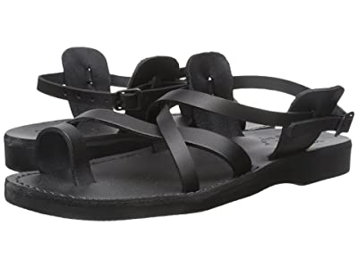 Jerusalem Sandals The Good Shepherd Buckle Mens (Black) Men