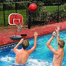 MICROFIRE Poolside Basketball Game PoolSport Pool Basketball Hoop Toddler Kids Basketball Hoop Indoor Basketballs Hoop