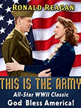 Ronald Reagan in This Is The Army - All-Star WWII Classic, God Bless America!