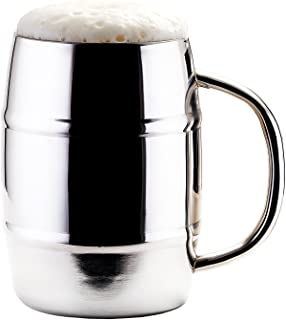 Old Dutch Jumbo KeepKool 33.8 oz Double Walled Stainless Steel Mugs (Set of 2), Silver