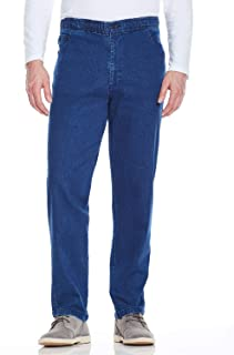 Chums Mens Elasticated Waist Drawcord Denim Trouser Pants Jeans