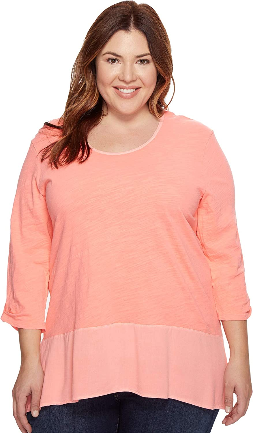 Extra Fresh by Fresh Produce Womens Plus Size Windfall Top