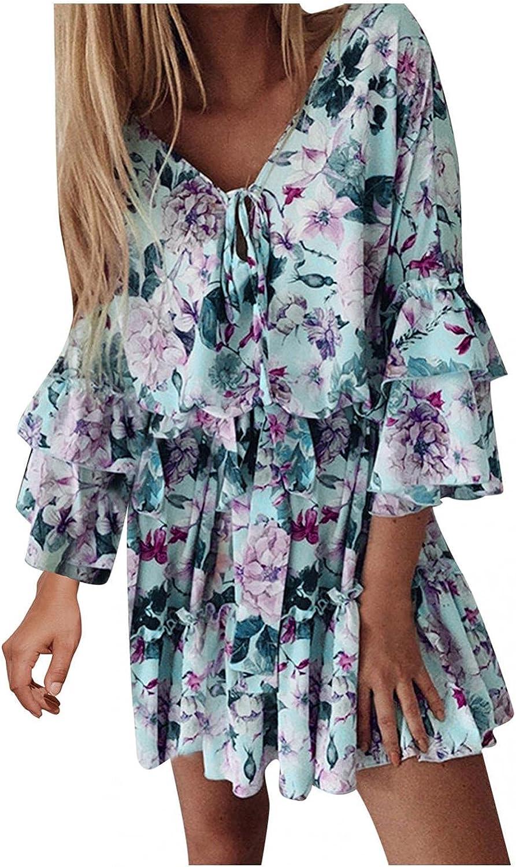 Womens Dresses for Summer Autumn Print Temperament Pink Hooded Thin Cotton Skirt Mid-Waist Women's Dress D543