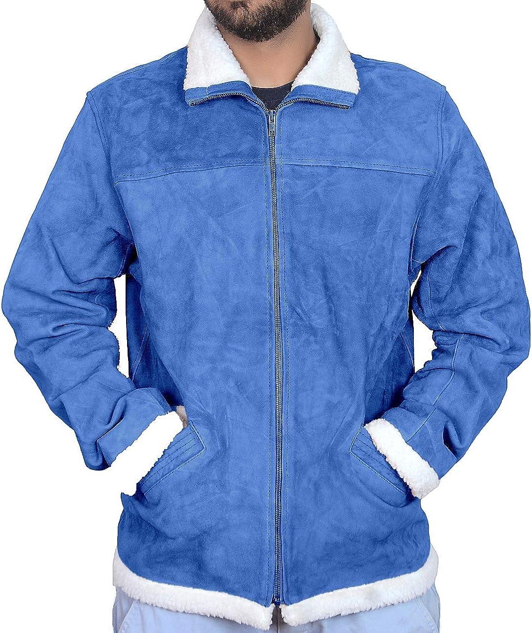 Classyak Men's Fashion Leather Jacket Furr Collar