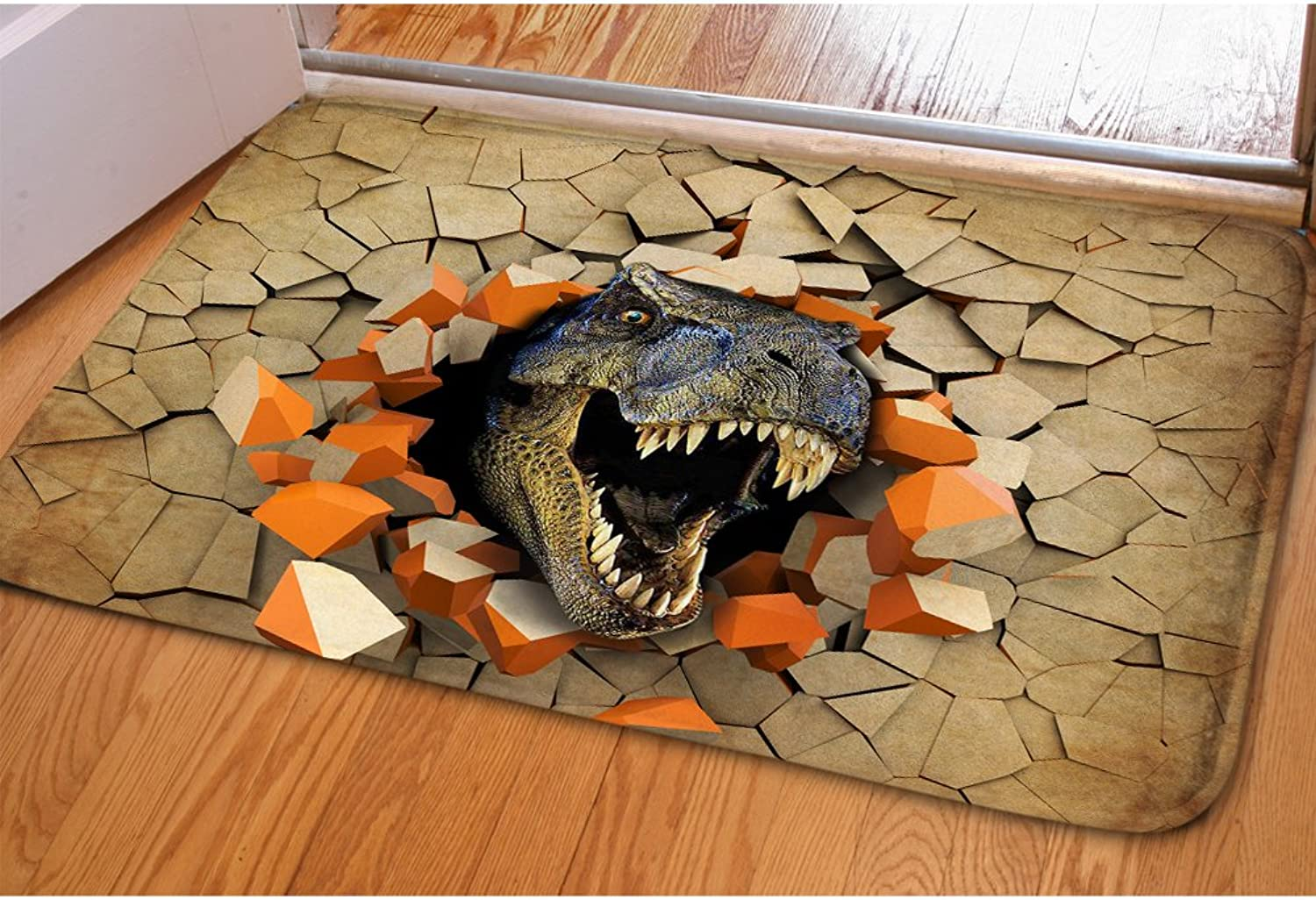 Dinosaur Pattern Home Doormat Cheap Thin Low Profile Personalized Soft Indoor Outdoor Washable Floor Mat Bathroom Rug For Christmas Home Decoration CA5191CN