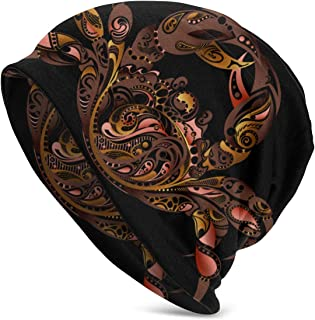 Uttery Knit Hat for Men Women, Unisex Slouchy Beanie Hat Soft Warm Skull Cap, Crab