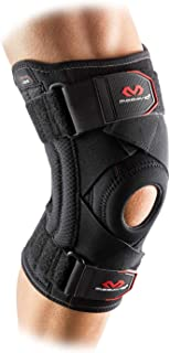 McDavid Level 2 Knee Support With Cross Straps, Black, Size S