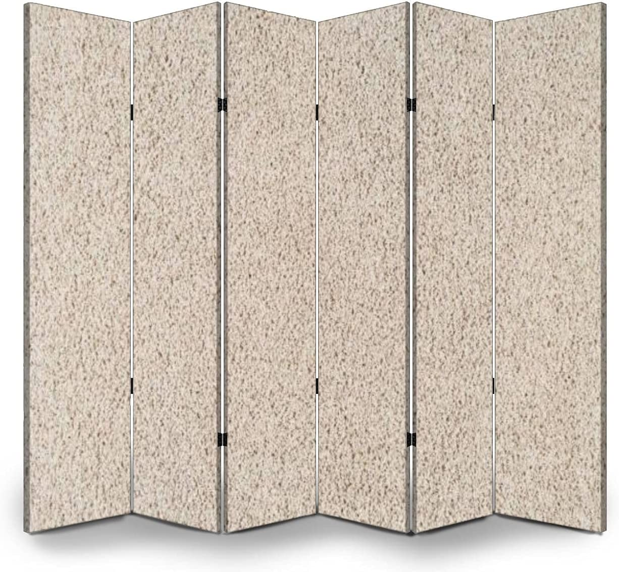 6 Panels Room Divider Luxury goods Screen Today's only Background Texture Fo Partition Rug